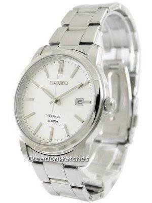 Seiko Quartz Sapphire White Dial SGEH01 SGEH01P1 SGEH01P Men's Watch