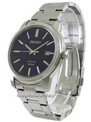 Seiko Quartz Sapphire Blue Dial SGEH03P1 SGEH03P Men's Watch