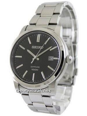 Seiko Quartz Sapphire Black Dial SGEH05 SGEH05P1 SGEH05P Men's Watch