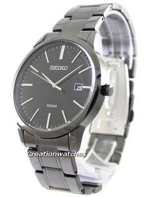 Seiko Quartz Black IP SGEH11P1 SGEH11P Men's Watch