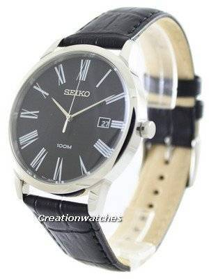 Seiko Quartz Black Dial SGEH13P1 SGEH13P Men's Watch