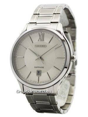 Seiko Quartz Sapphire Glass Silver Dial SGEH51 SGEH51P1 SGEH51P Men's Watch