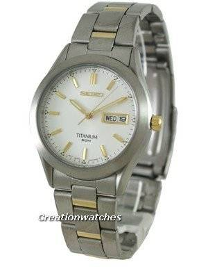 Seiko Titanium Quartz SGG603 SGG603P1 SGG603P Men's Watch
