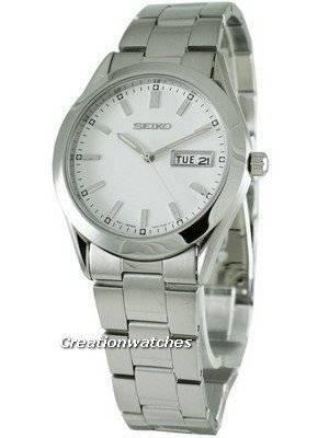 Seiko Quartz White Dial SGGA21P1 SGGA21 SGGA21P Men's Watch