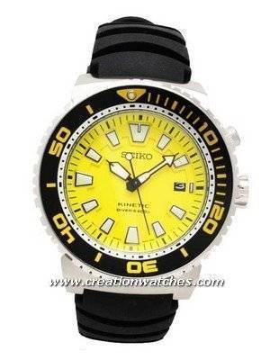 Seiko Men's Kinetic Divers' Watch SKA385P2 SKA385P SKA385