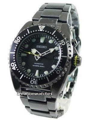 Seiko Kinetic Diver's Ion Plated Watch 200m SKA427 SKA427P1 SKA427P Men's Watch