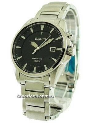 Seiko Kinetic Black Dial SKA565P1 SKA565P Men's Watch