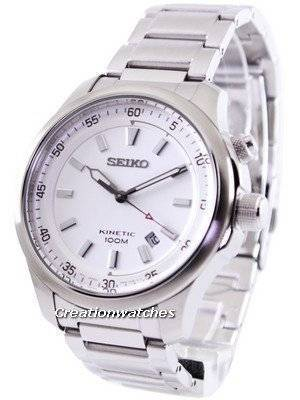 Seiko Neo Sports Kinetic 100M White Dial SKA683 SKA683P1 SKA683P Men's Watch
