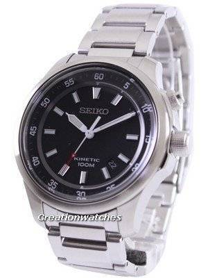 Seiko Neo Sports Kinetic 100M Black Dial SKA685 SKA685P1 SKA685P Men's Watch