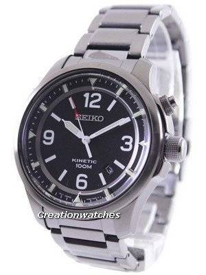 Seiko Neo Sports Kinetic 100M Black Dial SKA687 SKA687P1 SKA687P Men's Watch