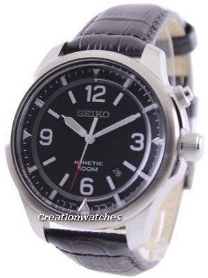 Seiko Neo Sports Kinetic 100M Black Dial SKA689 SKA689P1 SKA689P Men's Watch