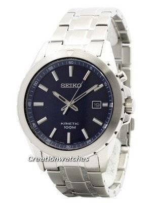 Seiko Kinetic Blue Dial 100M SKA695 SKA695P1 SKA695P Men's Watch