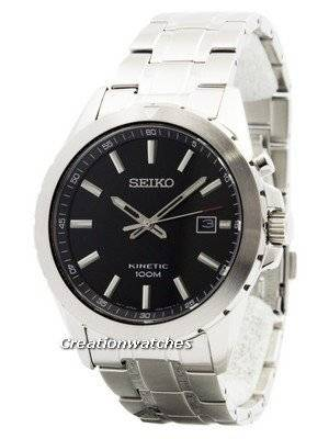 Seiko Kinetic Black Dial 100M SKA697 SKA697P1 SKA697P Men's Watch