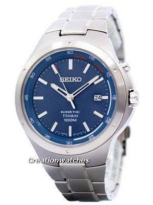 Seiko Kinetic Titanium Power Reserve SKA711 SKA711P1 SKA711P Men's Watch