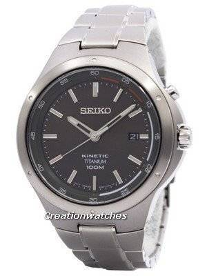 Seiko Kinetic Titanium Power Reserve SKA713 SKA713P1 SKA713P Men's Watch