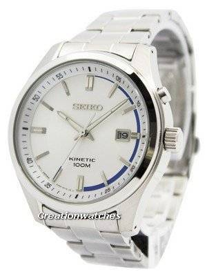 Seiko Kinetic Silver Dial 100M SKA717 SKA717P1 SKA717P Men's Watch