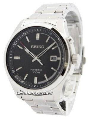 Seiko Kinetic Black Dial 100M SKA719 SKA719P1 SKA719P Men's Watch