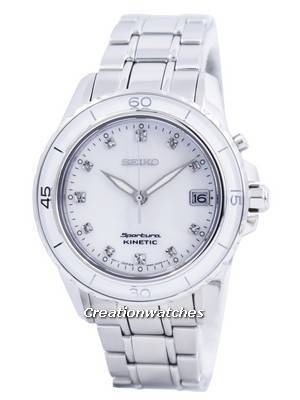 Seiko Sportura Kinetic Diamond Accent SKA881 SKA881P1 SKA881P Women's Watch