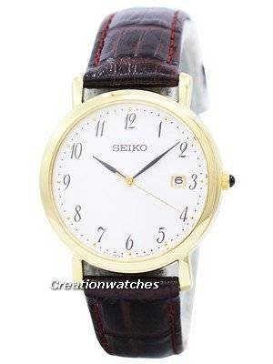 Seiko Quartz Brown Leather Strap SKK648 SKK648P1 SKK648P Men's Watch