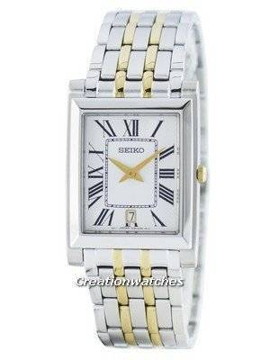 Seiko Stylish Rectangular Quartz Analog SKP359 SKP359P1 SKP359P Men's Watch
