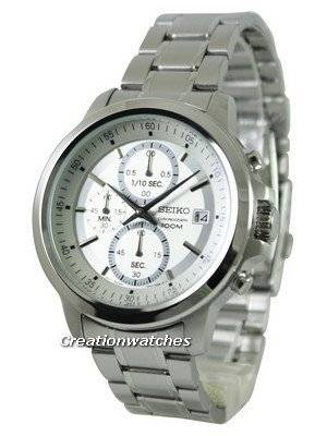 Seiko Chronograph Quartz Silver Tone Dial SKS441 SKS441P1 SKS441P