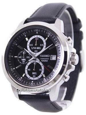 Seiko Chronograph 100M Black Dial SKS445P2 Men's Watch