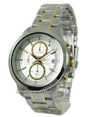 Seiko Chronograph Quartz Two Tone SKS447 SKS447P1 SKS447P Men's Watch