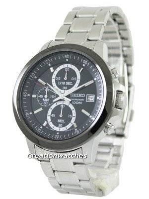 Seiko Chronograph Quartz Black Dial SKS451P1 SKS451P SKS451