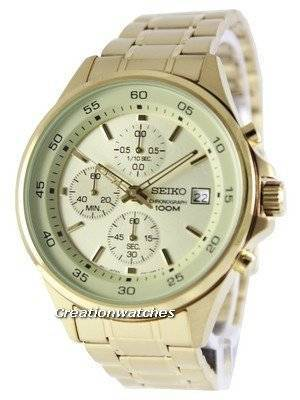 Seiko Chronograph Quartz 100M SKS482 SKS482P1 SKS482P Men's Watch