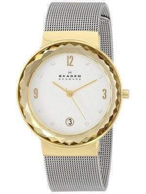 Skagen Leonora Silver Dial Swarovski Crystal Mesh Bracelet SKW2002 Women's Watch