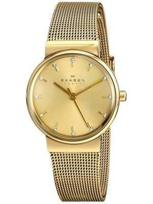 Skagen Ancher Champagne Dial Gold-Plated Mesh Bracelet SKW2196 Women's Watch
