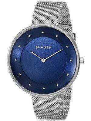 Skagen Gitte Blue Dial Stainless Steel Mesh Bracelet SKW2293 Women's Watch