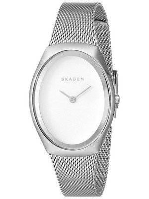 Skagen Madsen Matte Silver Dial Stainless Steel Mesh Bracelet SKW2297 Women's Watch