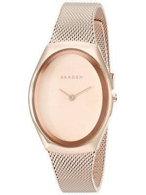 Skagen Madsen Rose Matte Dial Rose Gold-Tone Mesh Bracelet SKW2299 Women's Watch