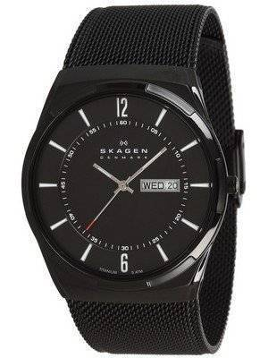 Skagen Melbye Black Titanium Case with Mesh Band SKW6006 Men's Watch