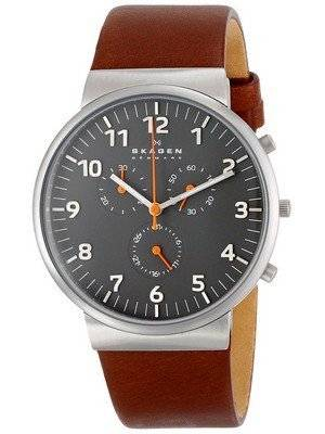 Skagen Ancher Chronograph Brown Leather SKW6099 Men's Watch