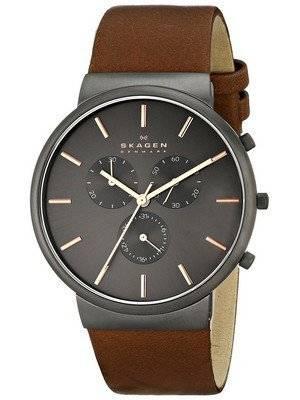 Skagen Ancher Chronograph Brown Leather SKW6106 Men's Watch