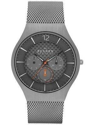 Skagen Grenen Grey Dial Gunmetal Titanium SKW6146 Men's Watch