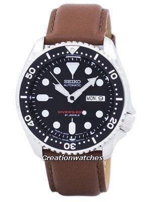 Seiko Automatic Diver's Ratio Brown Leather SKX007J1-LS12 200M Men's Watch