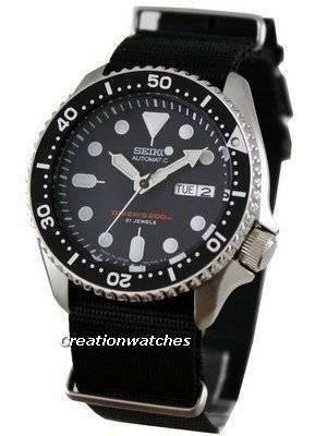Seiko Automatic Diver 200m Japan SKX007J6-Nato Watch