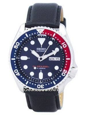 Seiko Automatic Diver's Ratio Black Leather SKX009J1-LS10 200M Men's Watch