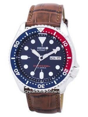Seiko Automatic Diver's Ratio Brown Leather SKX009J1-LS7 200M Men's Watch