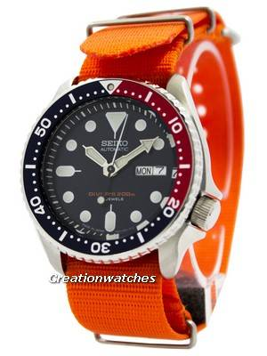 Seiko Automatic Diver's 200M NATO Strap SKX009J1-NATO7 Men's Watch