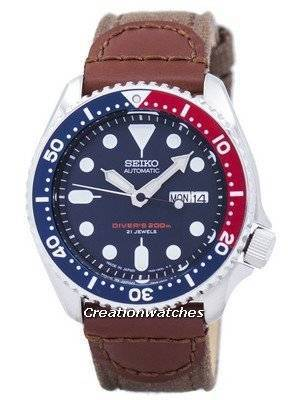 Seiko Automatic Diver's Canvas Strap SKX009J1-NS1 200M Men's Watch