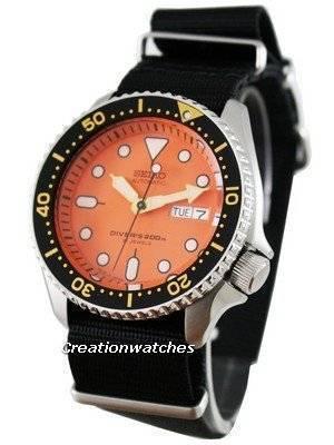 Seiko Automatic Diver 200m Japan SKX011J6-Nato Watch
