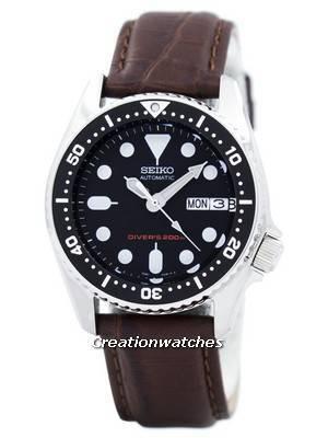 Seiko Automatic Diver's 200M Ratio Brown Leather SKX013K1-LS3 Men's Watch