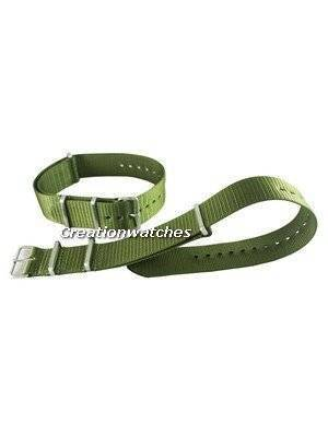 Seiko 22mm Green Nato Strap For SKX007, SKX009, SKX011