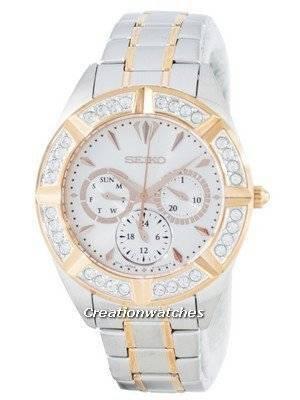 Seiko Quartz Multi-Function Diamond Accent SKY678 SKY678P1 SKY678P Women's Watch
