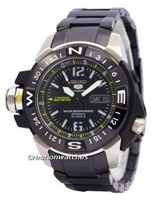 Seiko 5 200m Automatic Map Meter SKZ231 SKZ231K1 SKZ231K Men's Watch