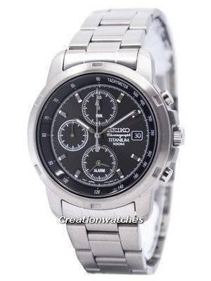 Seiko Titanium Alarm Chronograph SNA107 SNA107P1 SNA107P Men's Watch